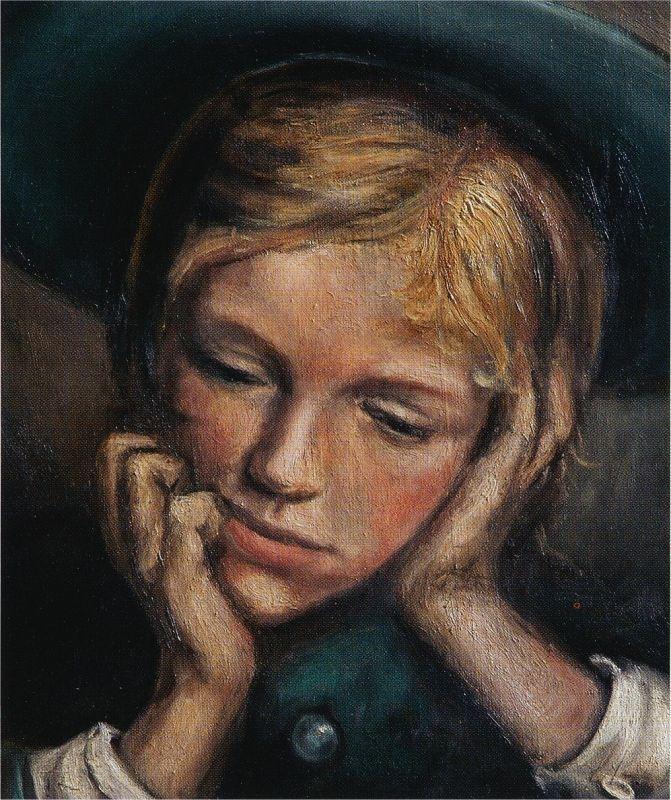 Cécile, sœur de l'artiste, peinte par Gabriël à seize ans.